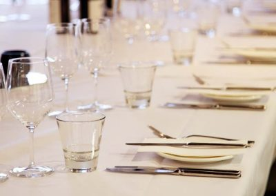 Formal table setting in a private dining room